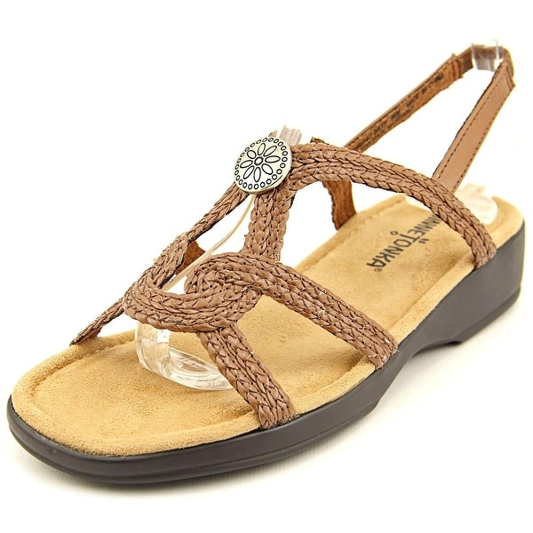 Minnetonka Ava N/S Open-Toe Synthetic Slingback Sandal