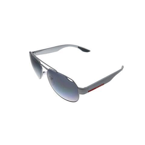 Prada Linea Rossa PS 57US 4495W1 59mm Unisex Grey Frame Grey Polarized Lens Sunglasses