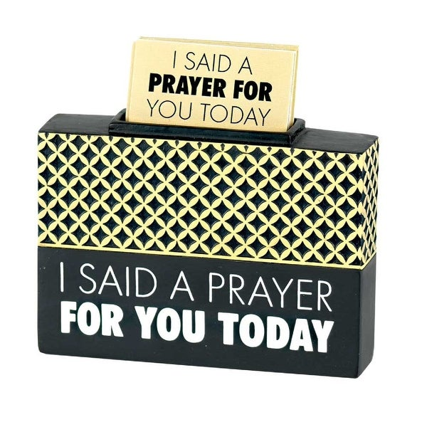 """3.5"""" Black and White """"I Said a Prayer For You Today"""" Tabletop Box - N/A"""
