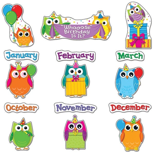 Colorful Owls Birthday Bb Set