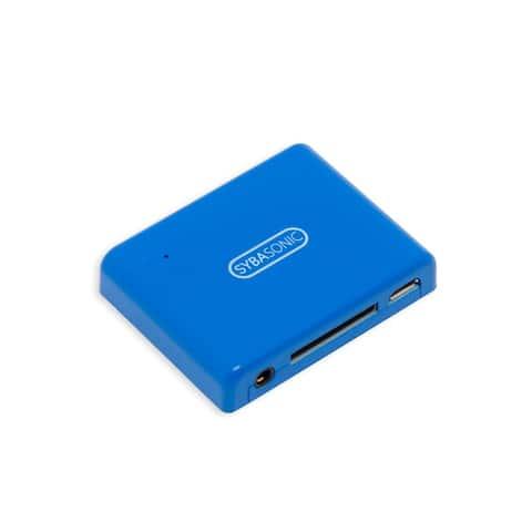 Syba Sonic SD-ADA23054 30pin Audio Speaker Dock Bluetooth Music Receiver BLUE