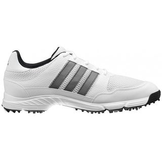 Adidas Men's Tech Response 4.0 White/ White/Dark Silver Metallic Golf Shoes 816570 / 672981