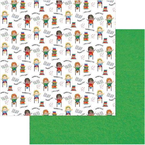 """School Days Double-Sided Cardstock 12""""X12""""-Reading Is Fun"""