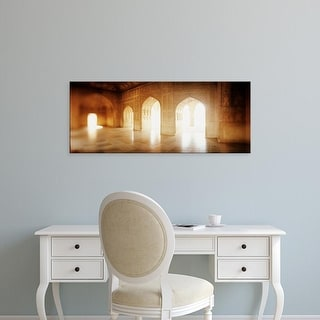 Easy Art Prints Panoramic Images's 'Interiors of a hall, Agra Fort, Agra, Uttar Pradesh, India' Premium Canvas Art