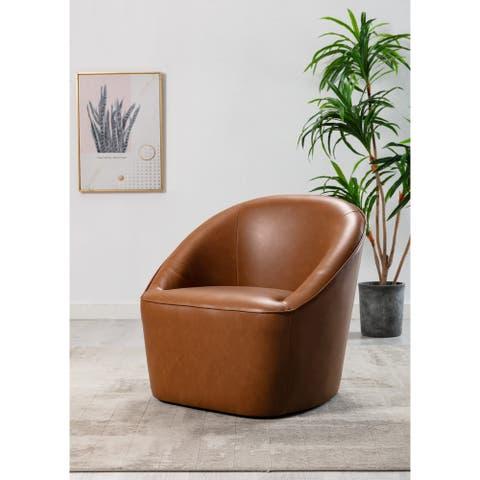 WOVENBYRD Barrel Swivel Chair