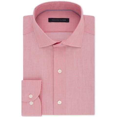 Tommy Hilfiger Mens Non-Iron Stretch Button Up Dress Shirt