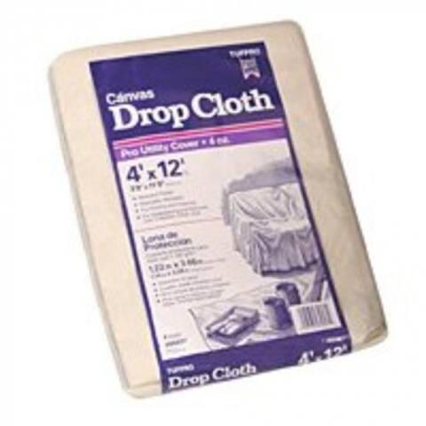 Trimaco 56707 Drop Cloths Canvas, 4' X 12'