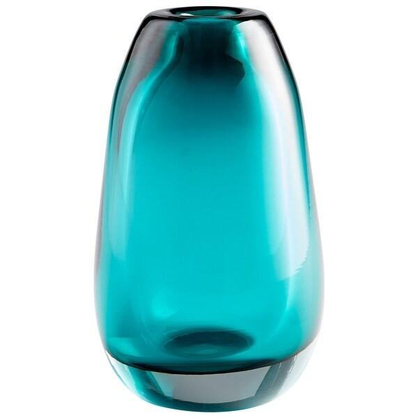 "Cyan Design 09493 Ocean 6"" Diameter Glass Vase - Blue"