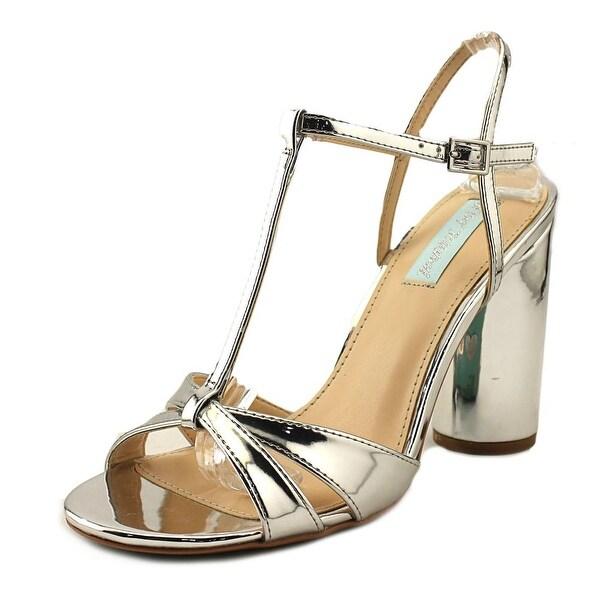 Betsey Johnson Luisa Women Open Toe Synthetic Silver Sandals