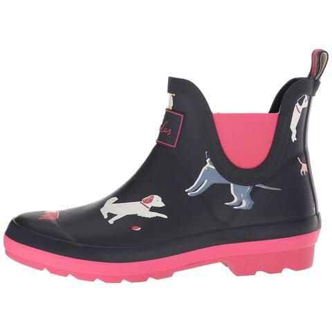 Kids Joules Girls JNRWELLIBOB Ankle Pull On Rain Boots