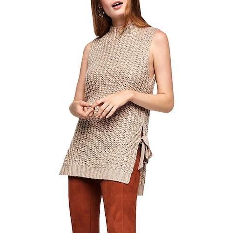 BCBGeneration Womens Tunic Sweater Side Slit Turtleneck