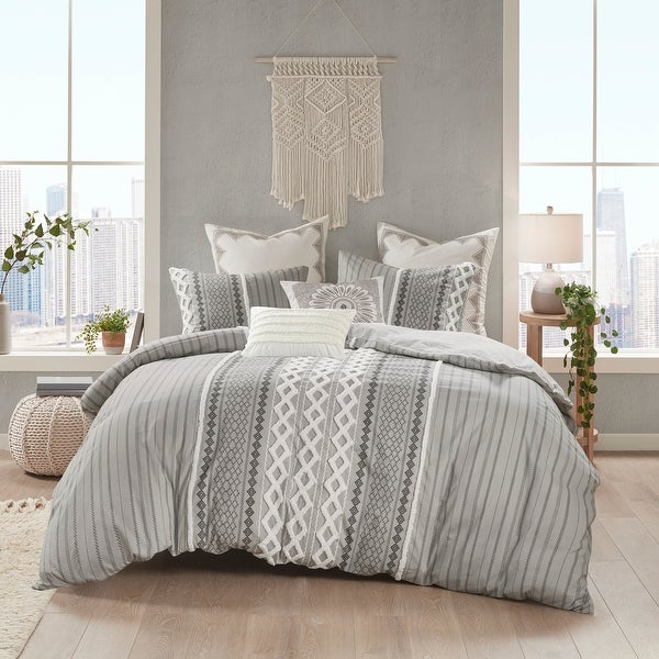 The Curated Nomad Clementina Cotton Printed Chenille Comforter Set. Opens flyout.