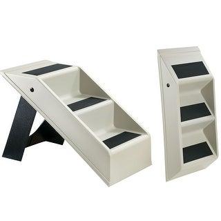 Plastic Folding Pet Steps - Gray - 26 1/4 in. x 4 1/2 in. x 12 1/4 in.