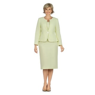 Link to Giovanna Signature 3pc Seersucker Skirt Suit Similar Items in Suits & Suit Separates