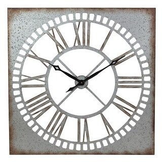 Aspire Home Accents 5642 Ashbury Square Metal Wall Clock