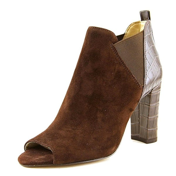 Marc Fisher Womens SAYLA Suede Open Toe Ankle Fashion Boots