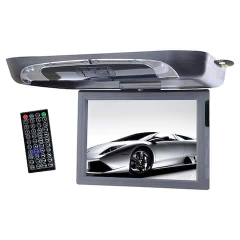 """Tview 15"""" Flip Down Monitor with DVD Player USB/SD IR/FM Transmitters"""