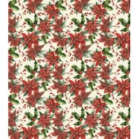 Christmas - Traditional Poinsettia - Craft Consortium Decoupage Papers 3/Pkg