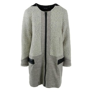 Nic + Zoe Womens Wool Blend Colorblock Coat - XL