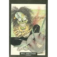 Ball And Chain Artwork Sticker Card Pushead, Motley Crue 1991