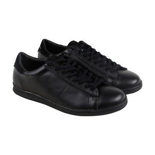 Calvin Klein Hart Action Mens Black Leather Lace Up Sneakers Shoes