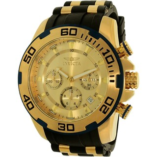 Invicta Men's Pro Diver 22345 Black Resin Quartz Dress Watch