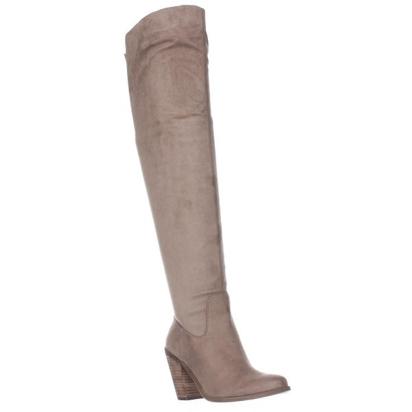 Jessica Simpson Coriee Over The Knee Back Lace Heeled Boots, Slater Taupe