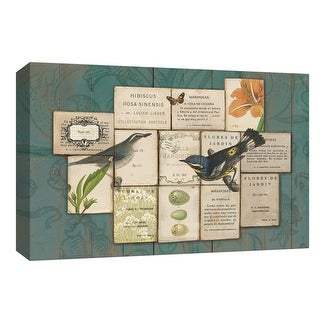 """PTM Images 9-154063  PTM Canvas Collection 8"""" x 10"""" - """"Birds of the Garden"""" Giclee Birds Art Print on Canvas"""