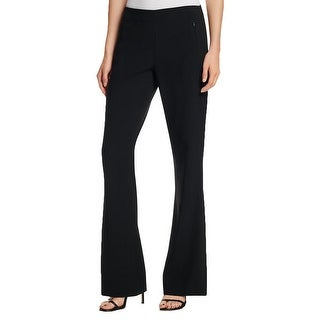 T Tahari NEW Black Womens Size 6 Stretch Flare Zip-Pocket Linden Pants