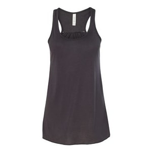 Women's Flowy Racerback Tank - Dark Grey - XL
