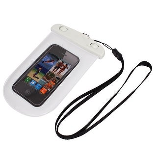 Unique Bargains Waterproof Bag Holder Pouch Case White for iPhone 6 w Neck Strap