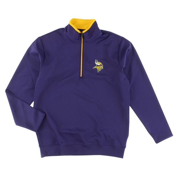 Antigua Mens Minnesota Vikings NFL Leader Pullover Jacket Purple -  Purple/Yellow - S