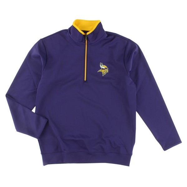 buy popular 655ed 6bf83 Antigua Mens Minnesota Vikings NFL Leader Pullover Jacket Purple -  Purple/Yellow - S