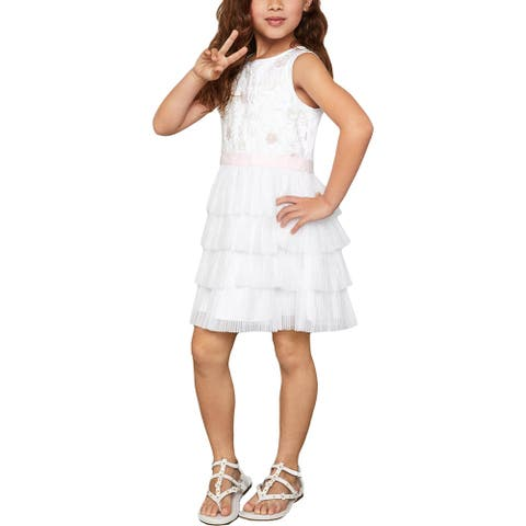 BCBGirls Party Dress Tiered Girls - White
