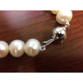Miadora Sterling Silver White Cultured Freshwater Pearl Bracelet (10-11mm)