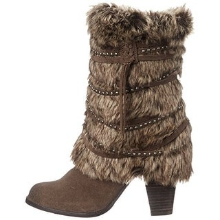 Naughty Monkey Women's Snow Cozy Heeled Boot