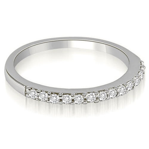 0.21 cttw. 14K White Gold Classic Round Cut Diamond Wedding Band