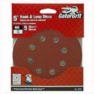"""Gator 4144 8-Hole Hook and Loop Sanding Discs 5"""", 60 Grit"""