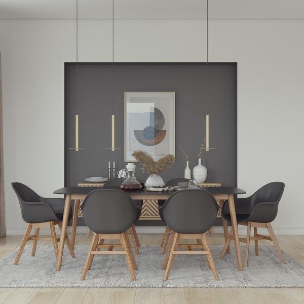 Midtown Concept Eucalyptus Ambar 7 Piece Dining set - With Cushions. Opens flyout.