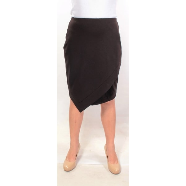 31f8b634b1 Shop ALFANI Womens Black Solid Knee Length Pencil Career Skirt Size: 10 -  On Sale - Free Shipping On Orders Over $45 - Overstock - 22424999