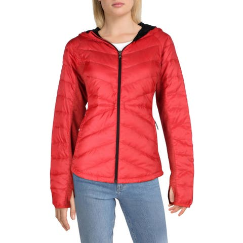 Spyder Womens Solitude Down Coat Quilted Cropped