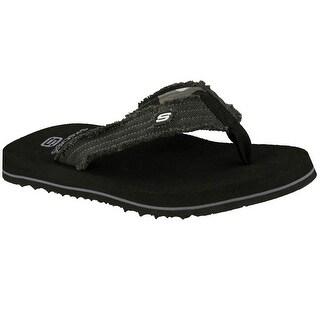 Skechers 60421 BLK Men's TANTRIC-FRAY Sandal