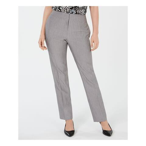 KASPER Womens Gray Heather Straight leg Wear to Work Pants Size 12
