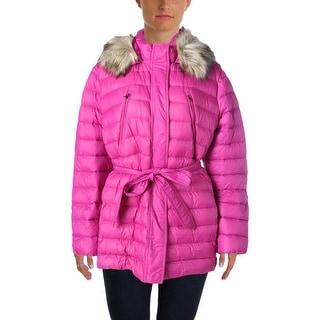 Lauren Ralph Lauren Womens Hooded Parka Puffer Coat