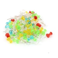 Unique Bargains Home Office Thumb Tack Push Pin Bulletin Board Holder Assorted Color 100pcs