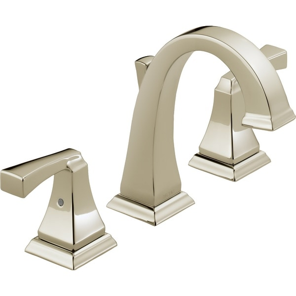 Delta 3551LF Dryden Widespread Bathroom Faucet with Metal Drain Assembly