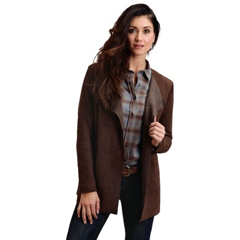 Stetson Western Jacket Womens Suede L/S Brown - S
