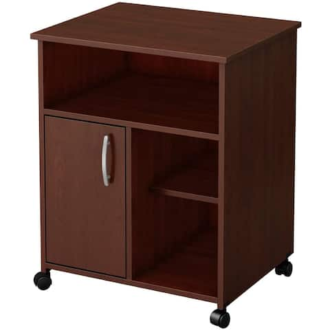 Printer Stand Storage Office Cabinet File Cabinet with Door and Wheels