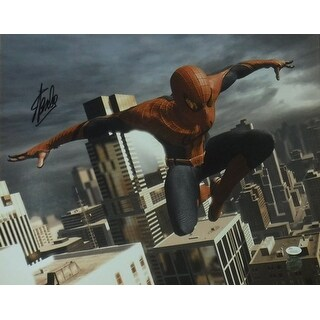 Stan Lee Autographed SpiderMan 16x20 Photo Action in Black JSA|https://ak1.ostkcdn.com/images/products/is/images/direct/85715e078497574fc1943521bc221f8efd203bbe/Stan-Lee-Autographed-SpiderMan-16x20-Photo-Action-in-Black-JSA.jpg?_ostk_perf_=percv&impolicy=medium