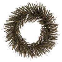 "36"" Vienna Twig Artificial Christmas Wreath - Unlit - brown"
